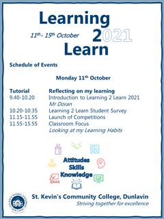 Learning 2 Learn Week- Monday